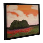 ArtWall 'Soft Clouds' by Faith Patterson Framed Painting Print; 24'' H x 32'' W x 2'' D
