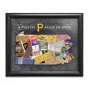 That's My Ticket Pennsylvania State of Mind Framed Wall Art; Pittsburgh Pirates