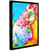 ArtWall 'Butterfly-Papillon 2' by Susi Franco Framed Painting Print; 18'' H x 14'' W x 2'' D