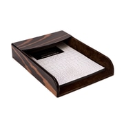 Bey Berk Ebony Letter Tray (D926) by