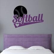 Enchantingly Elegant Softball Sports Wall Decal