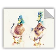 ArtWall Reservoir Ducks Wall Mural; 36'' H x 48'' W x 0.1'' D