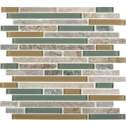 MSI Interlocking Random Sized Fields Glass and Natural Stone Mosaic Tile in Golden