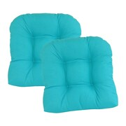 Edie Inc. Oxford Outdoor Dining Chair Cushion (Set of 2)