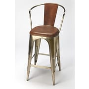 Butler Industrial Chic Bar Stool with Cushion