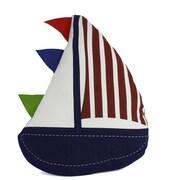 Handcrafted Nautical Decor Flag Hoisted Sailboat Nautical Decorative Throw Pillow