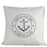 Handcrafted Nautical Decor Yacht Club Anchor Decorative Throw Pillow