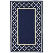 Garland Rug Moroccan Frame Indigo/Ivory Area Rug; 2'6'' x 3'10''