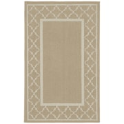 Garland Rug Moroccan Frame Tan/Ivory Area Rug; 5' x 7'