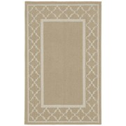 Garland Rug Moroccan Frame Tan/Ivory Area Rug; Runner 2' x 5'