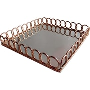 Allure by Jay Looped Copper Square Mirror Tray