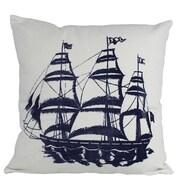 Handcrafted Nautical Decor Tall Ship Decorative Nautical Throw Pillow