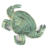 Handcrafted Nautical Decor Crab Decorative Bowl; Antique Bronze