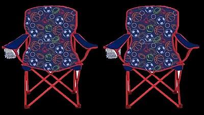 Linen Depot Direct Kids Camping Chair (Set of 2) WYF078279060714