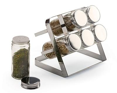 RSVP-INTL 7 Piece Compact Spice Rack Set