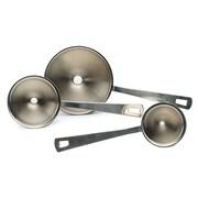 RSVP-INTL Endurance  3 Piece Stainless Steel Mini Funnel Set
