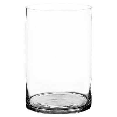 CYSExcel Glass Cylinder Vase (Set of 4); 12'' H x 8'' W x 8'' D WYF078278908865