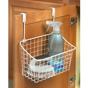 Spectrum Diversified Grid Over the Cabinet Basket; White