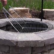 SunnyDaze Decor Foldable Cooking Fire Pit Grate; 1'' H x 40'' W x 40'' D