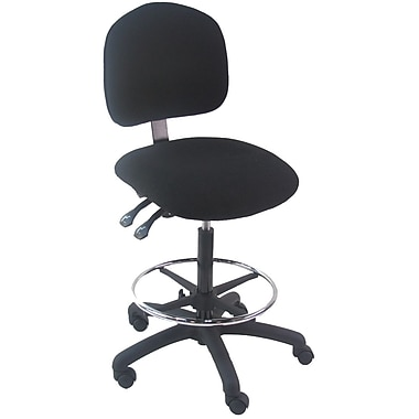 Bench Pro Tall Industrial Mid Back Desk Chair Fabric Staples