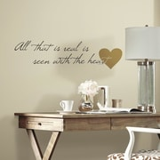Room Mates Heart Quote Peel and Stick Wall Decal