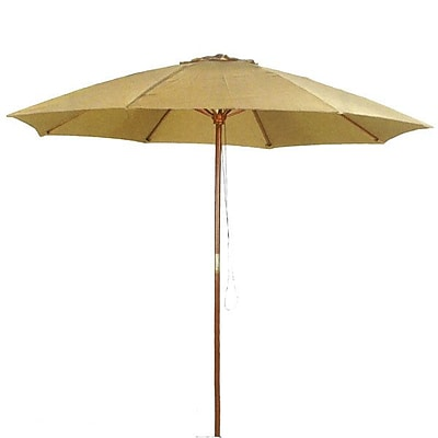 PierSurplus 9' Market Umbrella; Taupe WYF078278914407