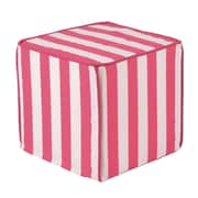 Brite Ideas Living Canopy Candy Pink Corded Foam Ottoman; 17'' W x 17'' D