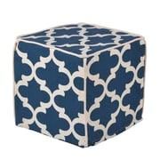 Brite Ideas Living Fynn Cadet Macon Corded Foam Ottoman; 13'' W x 13'' D