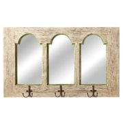 CBK Home Away Distressed Arch Mirror with Hooks