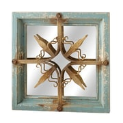 CBK Victory Distressed Star Square Wall Mirror