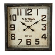CBK Borough Distressed Square Wall Clock