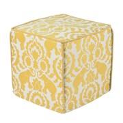 Brite Ideas Living Babar Topaz Corded Foam Ottoman; 17'' W x 17'' D