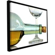 ArtWall 'Bottle Plus Glass' by Dan Holm Framed Photographic Print; 24'' H x 36'' W x 2'' D