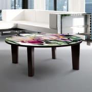 TAF DECOR Iris Vivaldi Spring Coffee Table; 13'' H x 44'' W x 44'' D