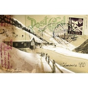 TAF DECOR Vintage Winter Post Card Graphic Art on Canvas