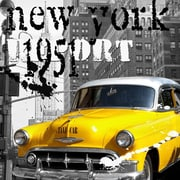 TAF DECOR 1951 New York Taxi Report Graphic Art on Canvas