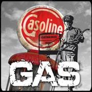 TAF DECOR Vintage Gas 1 Vintage Advertisement on Canvas