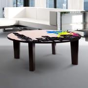 TAF DECOR City Vibes 2 Coffee Table; 13'' H x 35'' W x 35'' D