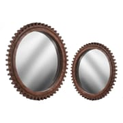 Urban Trends 2 Piece Wood Wall Mirror Set