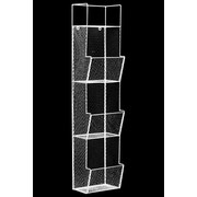 Urban Trends 3 Bins Top Shelf Metal Wall Rack; White