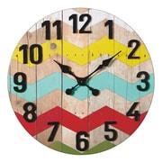 CBK Bloom 24'' Colorful Zig-Zag Wall Clock