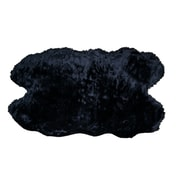 Glamour Home Decor Black Area Rug