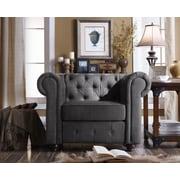 Mulhouse Furniture Garcia Arm Chair; Charcoal