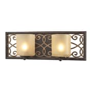 Radionic Hi Tech Santa Monica 2 Light Vanity; Weathered Bronze with Gold Highlights