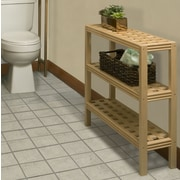 New Ridge Home Goods Beaumont Solid Birch Wood 3-Shelf Console / Shoe Rack; Blonde
