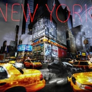 TAF DECOR New York Moves 1 Graphic Art on Canvas
