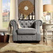 Mulhouse Furniture Olivia Tufted Armchair; Grey