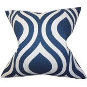The Pillow Collection Larch Geometric Bedding Sham; Navy Blue