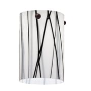 Lithonia Lighting 3.38'' Glass Drum Mini Pendant Shade; White Drizzle