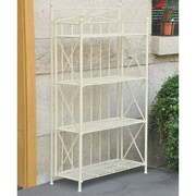 International Caravan Artica 4-Tier Iron IndoorOutdoor Bakers Rack; 50'' H x 26'' W